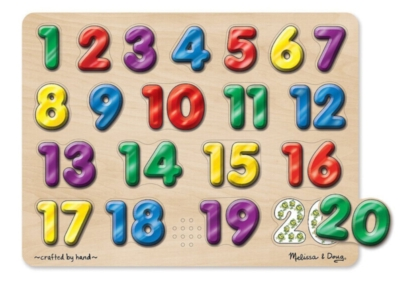 Spanish Numbers - 20pc Interactive Sound Puzzle By Melissa & Doug