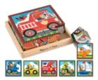 Vehicles Cube - 16pc Block Puzzle By Melissa & Doug