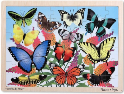 Melissa and Doug Jigsaw Puzzles for Kids - Butterfly Garden