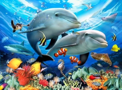 Animal Planet� - Underwater - 300pc Large Format Jigsaw Puzzle By Ravensburger
