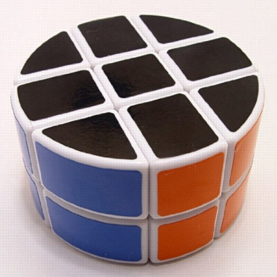 Speed Cube, Pie Shaped Round Column, 2x3x3, White - Puzzle Cube
