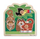 Rain Forest Friends - 3pc Jumbo Knob Puzzle By Melissa & Doug