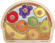 Fruit Basket - Jumbo Knob Puzzle By Melissa & Doug