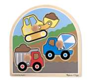Construction - 3pc Jumbo Knob Puzzle By Melissa & Doug