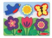 Flower Garden - 6pc Chunky Wood Puzzle Scene By Melissa & Doug