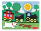Red Caboose - 6pc Chunky Wood Children's Puzzle Scene By Melissa & Doug