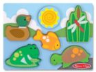 Pond Play - 6pc Chunky Wood Puzzle Scene By Melissa & Doug