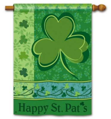 Happy St. Pat's - Standard Flag by Magnet Works