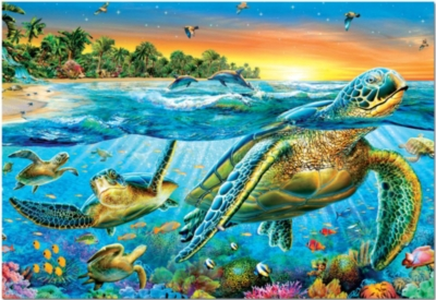 Educa Jigsaw Puzzles - Sea Turtles