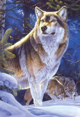 Wolf on Guard - 500pc Jigsaw Puzzle By Educa
