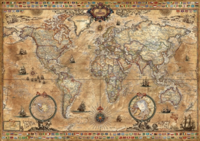 Antique World Map - 1000pc Jigsaw Puzzle By Educa