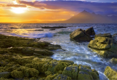 Educa Jigsaw Puzzles - Sunset on the Rocks