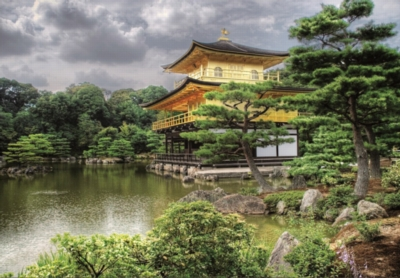 Temple of the Golden Pavilion, Kyoto - 2000pc Jigsaw Puzzle By Educa