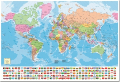 World Map with Flags - 1500pc Jigsaw Puzzle By Educa
