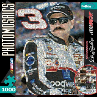 Dale Earnhardt - 1000pc Photomosaic Jigsaw Puzzle by Buffalo Games