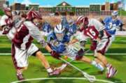 Lacrosse Check! - 48pc Floor Puzzle By Melissa & Doug