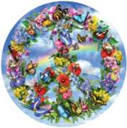 Peace-ful Garden - 1000pc Round Shaped Jigsaw Puzzle by Sunsout