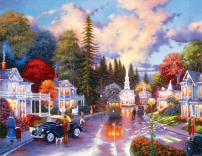 Simpler Times - 1000pc Large Format Jigsaw Puzzle by Sunsout