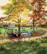 A Ride in the Country - 550pc Jigsaw Puzzle By Sunsout