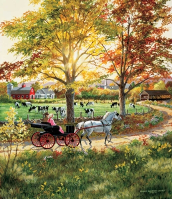Jigsaw Puzzles - A Ride in the Country