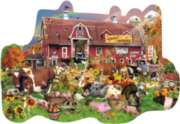 Countryside Fall - 1000pc Shaped Jigsaw Puzzle By Sunsout