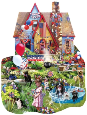 Shaped Jigsaw Puzzles - Home on the 4th of July