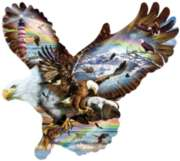 Eagle Eye - 1000pc Shaped Jigsaw Puzzle By Sunsout