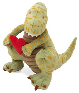 "How Do Dinosaurs Say I Love You? - 14"" Dinosaur by MerryMakers"