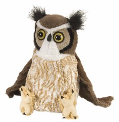 "Great Horned Owl - 12"" Owl By Wild Republic"