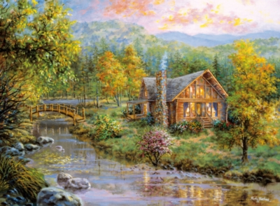 Hard Jigsaw Puzzles - Peaceful Grove