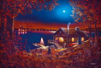 Hard Jigsaw Puzzles - Evening Serenity