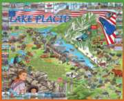 Lake Placid, NY - 1000pc Jigsaw Puzzle By White Mountain