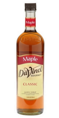 Davinci Gourmet Sweetener: Maple - 750ml Glass Bottle