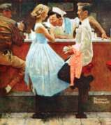 Norman Rockwell: After the Prom - 500pc Jigsaw Puzzle in Tin by Masterpieces