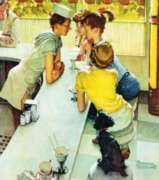 Norman Rockwell: Soda Jerk - 500pc Jigsaw Puzzle in Tin by Masterpieces
