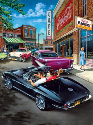 Classics: Cruisin' Times - 500pc Jigsaw Puzzle in Tin by Masterpieces