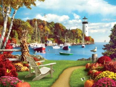 One Autumn Afternoon - 300pc Large Format Jigsaw Puzzle by Masterpieces