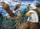 Soaring Eagles - 500pc Glow in the Dark Jigsaw Puzzle by Masterpieces