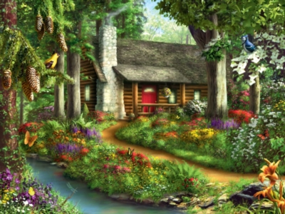 Forest of the Sun - 300pc Large Format Jigsaw Puzzle by Masterpieces