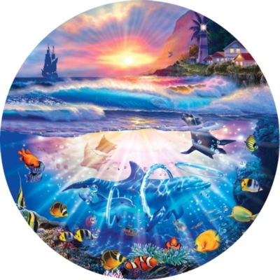 Coming Home - 700pc Round Jigsaw Puzzle by Masterpieces
