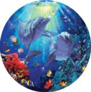 Midnight Sun - 700pc Round Jigsaw Puzzle by Masterpieces