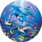 La Mer de Cristal II - 700pc Round Jigsaw Puzzle by Masterpieces