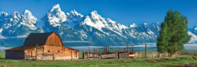 Grand Tetons - 1000pc Panoramic Jigsaw Puzzle by Masterpieces