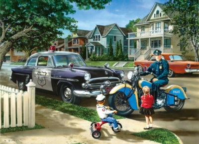 Neighborhood Patrol - 1000pc Jigsaw Puzzle by Masterpieces
