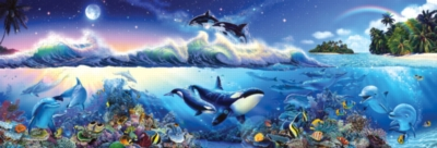 Panoramic Jigsaw Puzzles - The Blue World