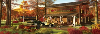 Sugar Creek Cider Mill - 1000pc Panoramic Jigsaw Puzzle by Masterpieces