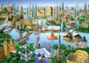 Landmarks of the World - 1000pc Suitcase Jigsaw Puzzle by Masterpieces