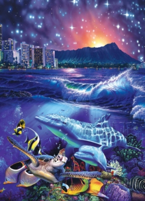Waikiki Stars - 1000pc Suitcase Jigsaw Puzzle by Masterpieces