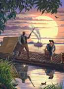 Huck Finn - 1000pc Storybook Jigsaw Puzzle by Masterpieces