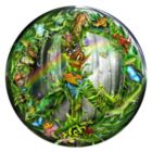 Peace-ful Rainforest - 1000pc Round Jigsaw Puzzle By Sunsout
